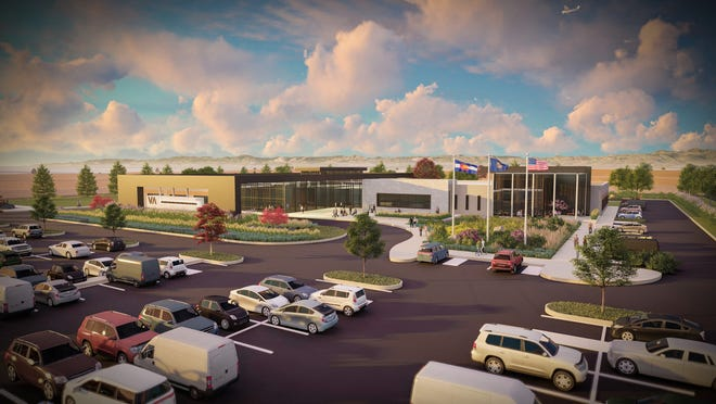 The conceptual drawing of the new Northern Colorado Outpatient Clinic that is scheduled to be open in June 2022.