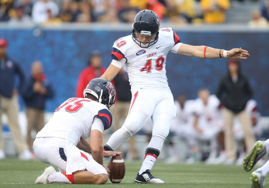 Former ECS kicker John Lunsford, who made 12 field goals of more than 50 yards at Liberty College, was charged Tuesday  with sexual assault and lewd and lascivious behavior.
