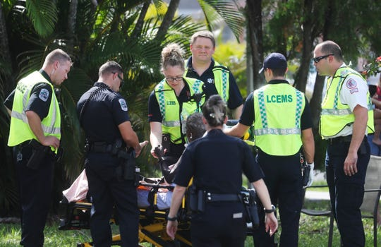A house fire on Lafayette Street in Fort Myers sent two people to the hospital with smoke inhalation shortly after noon Wednesday, Nov. 6, 2019.