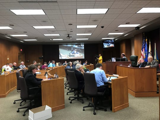 The Green Bay City Council deliberates the 2020 budget on Tuesday, Nov. 5, 2019.