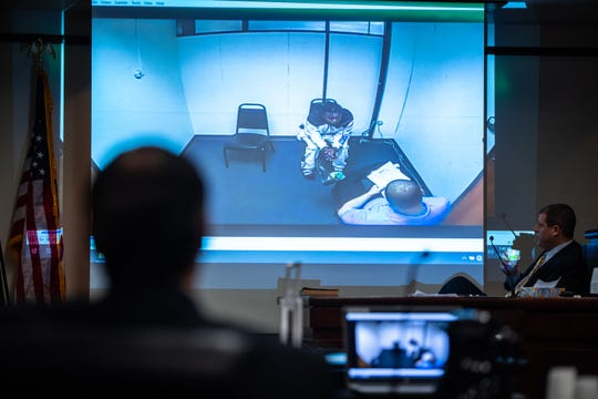 A video of the interrogation of Anthony Mays is played during the trial of Mays and his co-defendant Shyheem Rice in which they have been charged with murder and attempted murder in connection with 21-year-old Azaveon Cook's death and the shooting of another man on April 2, 2017.