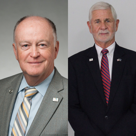 Mauldin Mayor Dennis Raines (left) will face Councilman Terry Merritt in a runoff election on Tuesday, Nov. 19, to determine who will be mayor for the next term beginning at the onset of 2020.