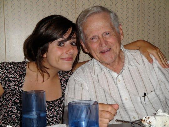Alaina Mack and her grandfather Warren Mack.