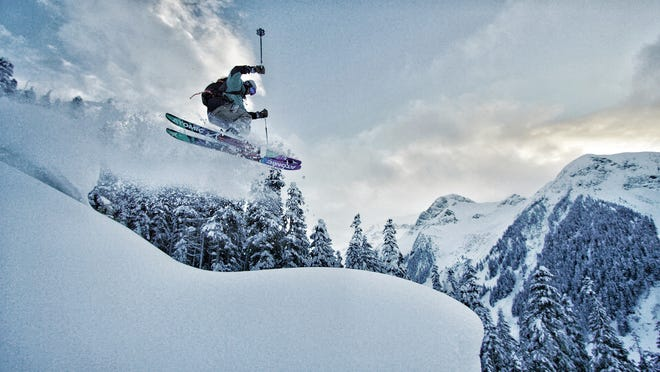 A skier carves the slopes in a film to be shown at the Banff Centre Mountain Film Festival. The festival's world tour will stop in Great Falls on Friday, Nov. 8.
