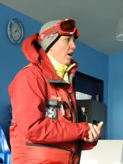 Colleen Finch leads a training class for the Great Falls Ski Patrol