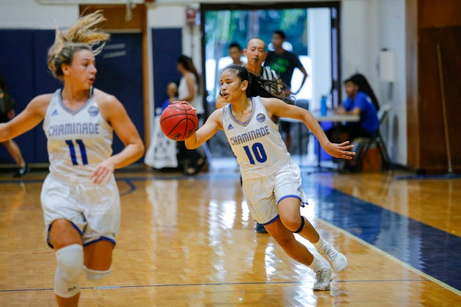 No. 10 Destiny Castro, a longtime Guam National Team leader, is in her final season at Chaminade University with one goal in mind: make the playoffs. Castro holds numerous single game, season and career records at the Hawaii school.