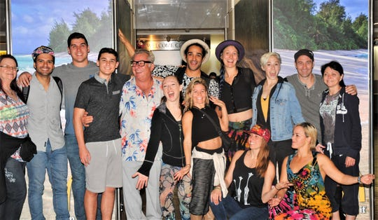 Super American Circus performers arrive on Guam Tuesday, Nov. 5 at A.B. Won Pat International Airport. They will perform on the island  Nov. 8 through 10.