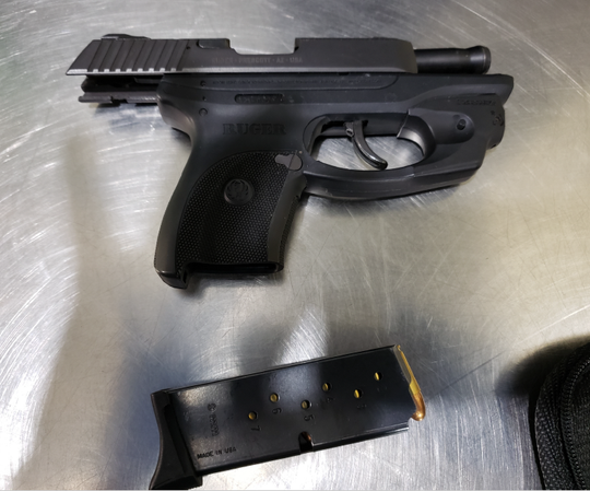 This handgun was stopped by TSA officers at the Ithaca Tompkins Regional Airport.