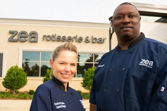 Barbara Coultas is the general manager and Rodney Davis is the kitchen manager for the new Zea Rotisserie & Bar in Ridgeland.