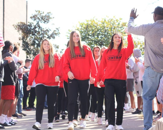 The Knoxville Central ladies soccer team qualified for the state tournament for the first time in school history. The seniors led the team through the school breezeway as they were cheered on by their peers, family and staff before boarding a bus headed to Murfreesboro for the opening round on Wed. Nov. 6, 2019.