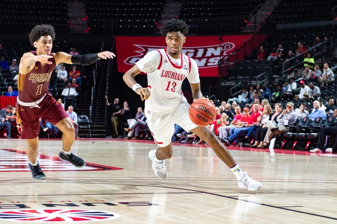 Freshman Mylik Wilson, shown here in UL's season-opener vs. Loyola of New Orleans, helped lift the Cajuns past Youngstown State on Friday night.