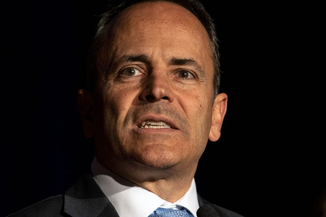 Former Gov. Matt Bevin's administration awarded a contract for a law firm to look into past dealings by the administration of his predecessor, then-Gov. Steve Beshear.
