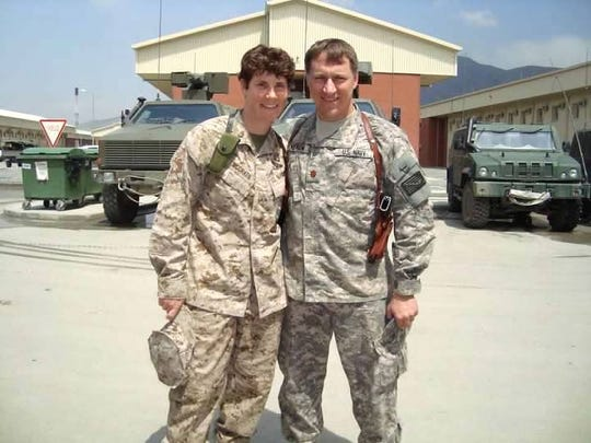 Amy McGrath and her husband, Erik Henderson in Kabul, Afghanistan.