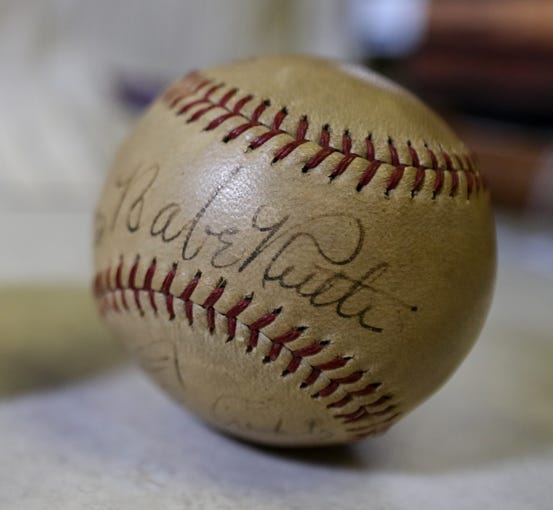 A Babe Ruth autographed baseball will be on the block during the16th annual Louisville Slugger Auction this Saturday.