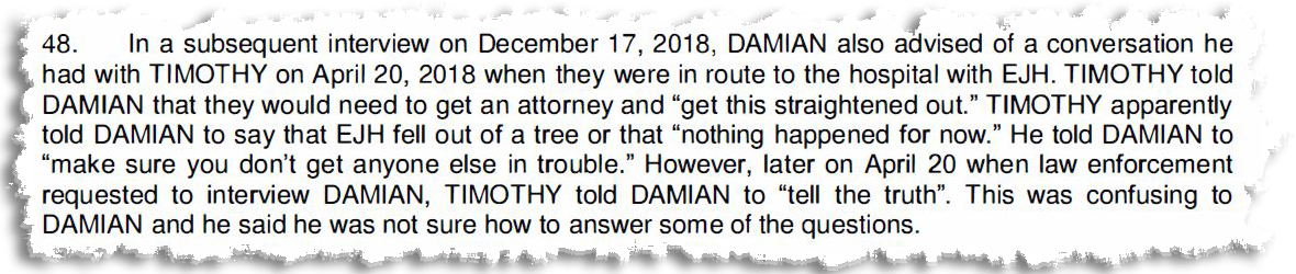Clipping from the criminal complaint