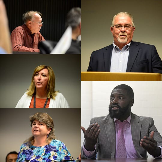 Cliff Mears, Cheryl Meier, Jean Taddie, Phil Scott and Alomar Davenport won their respective city council races Tuesday. All are Democrats aside from Mears.