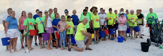 Marco Island Woman's Club at their October 26 beach clean-up. This was the seventh year the club has sponsored a cleanup in partnership with the city of Marco Island Beach & Coastal Resources Advisory Committee.