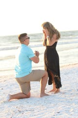 Tyler Sarsfield and his girlfriend, Olivia Yoder on engagement day.