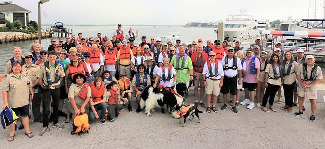 More than eighty boat safety advocates gathered at Rose Marina on Nov. 2, to remind Marco Island area boaters to always wear their Life Jackets while boating.