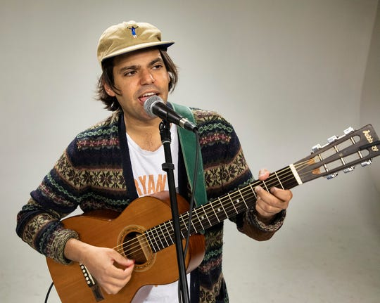 Singer/Songwriter Holy Pinto (Aymen Salah) performs in the Milwaukee Journal Sentinel studios.