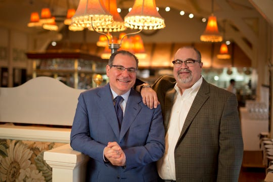 Paul Bartolotta (left) and Joe Bartolotta at their country-French restaurant, Lake Park Bistro in 2014, the year after Joe had a kidney transplant and the restaurant was redecorated.