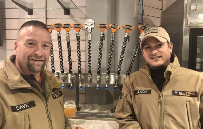 Dave Baron, left, and Jason Radosevich will open Steeltank Brewing Co., in Oconomowoc.