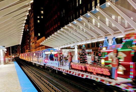 Chicago's Holiday Train serves all eight of Chicago Transit Authority's regular train routes.