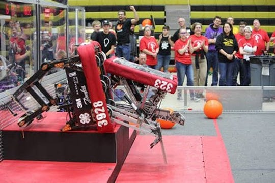 Tomahawk is being retired as a demonstration robot and is already on display at a manufacturing trade show at the Indianapolis Convention Center. It is being used by Rcal Products Inc. and JeTFiN Innovations LLC, both team sponsors, as an example of the kind of parts and assemblies that can be designed and manufactured by their machinery.