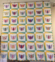 This vintage butterfly pattern is a family quilt from Donna Walker's grandmother.