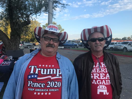 Early birds get the best position in line for Wednesday's Trump Rally in Monroe.