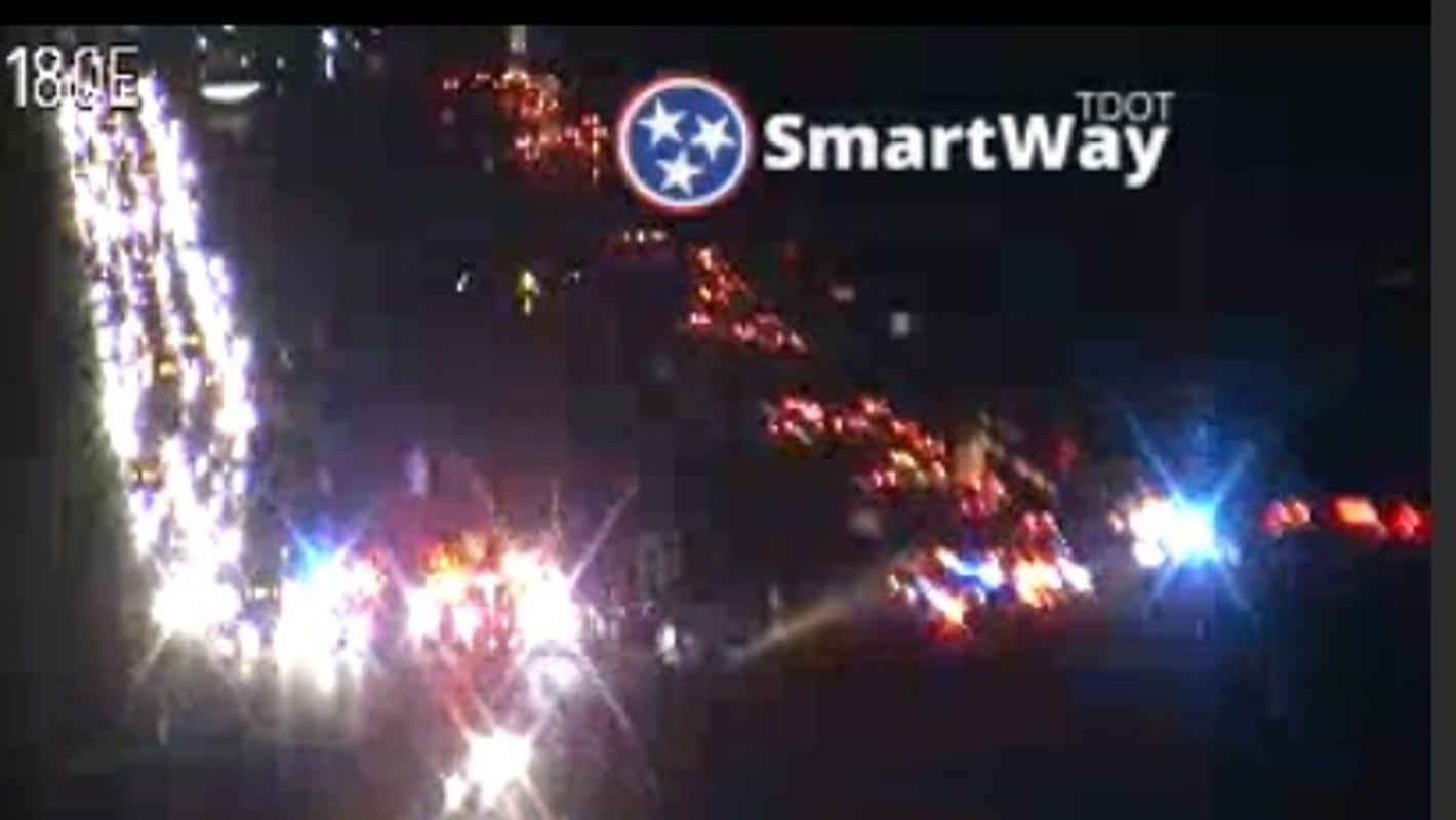 Traffic: 1 dead in multi-vehicle crash on I-24 at Sam Ridley
