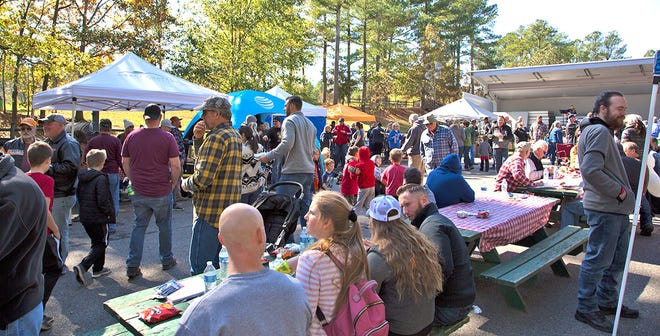 Pork in the Park barbecue competition in Fairview's Bowie Nature Park on Nov. 2, 2019.
