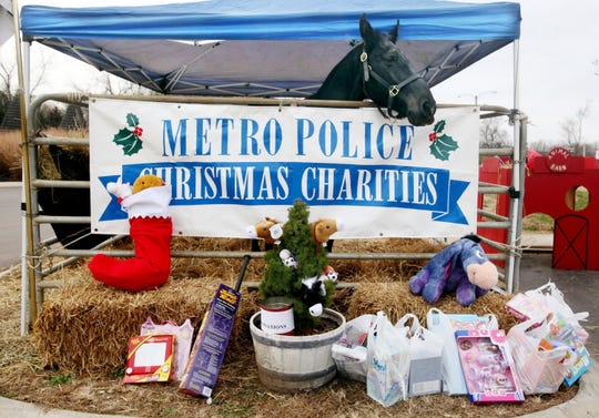 Donate new unwrappedtoys and get free Nashville Zoo admission by joining the Metro Nashville Police Department's Mounted Patrol Division's toy collection in the zoo parking lot Dec. 7-8.