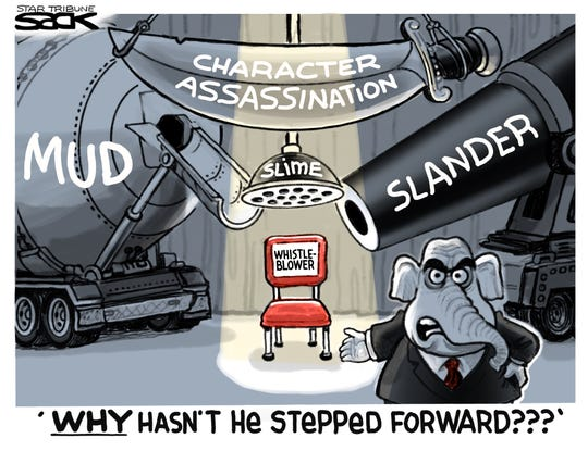 Whistle-blower and GOP.