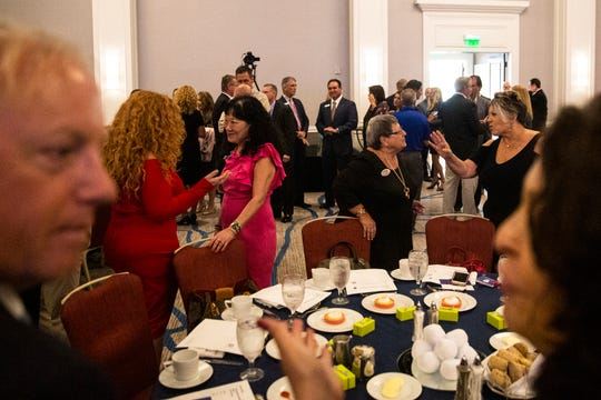 About 450 people gather for the 2019 Blue Chip Community Business Award at the Hyatt Regency Coconut Point Resort on Wednesday, Nov. 6, 2019, in Bonita Springs.