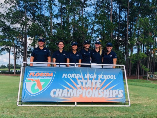 The Naples girls golf team finished third at the Class 2A state golf tournament at Howey-in-the-Hills.