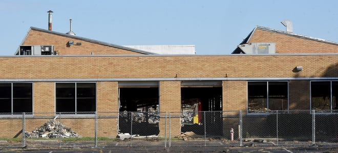 Demolition has begun at the former Meritor site on Hebron Road in Heath.