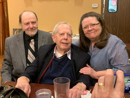 Dr. George Cameron at his retirement party from Cameron Animal Hospital, which is father opened in 1936. November 3, 2019.
