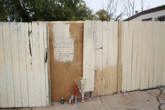 William Dean, 49, was killed Halloween night or early the next morning in or near Los Arboles Mobile Village. Neighbors honored their friend with a memorial, pictured Wednesday, Nov. 6, 2019, in the 300 block of Richard Drive.