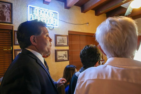 Las Cruces Mayor Ken Miyagishima, left, was elected to a fourth term in November.