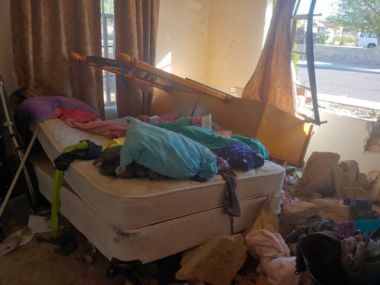 A car crashed through a bedroom of a home on the 700 block of S. Esperanza St. on Tuesday, Oct. 29, while a teenage girl was inside. No injuries were reported.