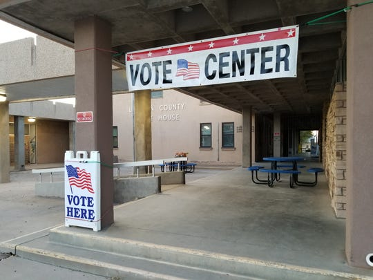 The voting center at the Lincoln County Courthouse in Carrizozo, NM on Tuesday, Nov. 5.