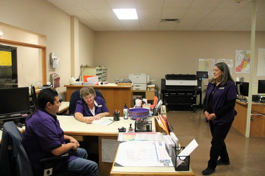 Otero County Deputy Clerks working on Election Night Nov. 5.