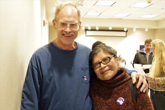 Henry and Theresa Rottschafer after voting at Farmington Museum on Nov. 5, 2019.