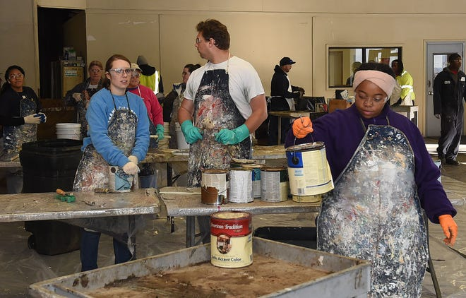 Volunteers and residents collect and dispose of hazardous waste materials during the St. Landry Parish Household Hazardous Waste Day event on Nov. 3. 2019, at the Opelousas and Eunice Recycling Centers. The annual event will will again be provided for residents on Saturday, Sept. 7, 2020.