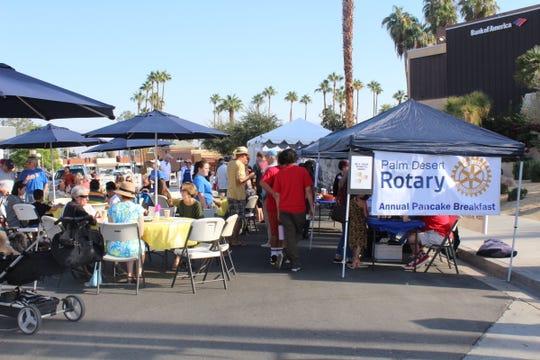 The Palm Desert Rotary Club's annual pancake breakfast took over a street in Palm Desert.