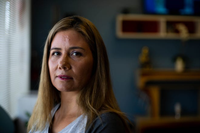 Ana Marquez filed a restraining order against her ex-boyfriend, a former Marina police officer who allegedly attacked her daughter.