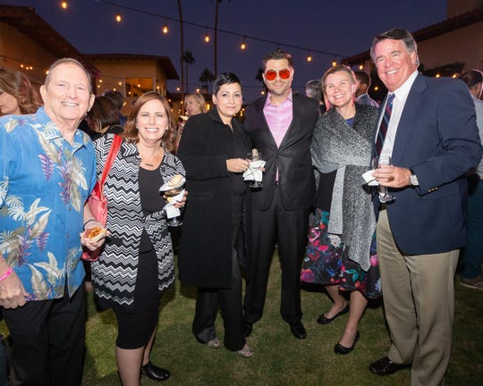 From left: Long-time Pendleton Foundation supporter Les Schwartz attended with his daughter, Deborah Glickman, and Wales Campbell, Ryan Campbell, Lori Carney and Matt Johnson