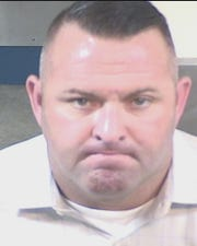 Former Clovis police officer Kyle Pennington. Pennington denied abusing his girlfriend, Desiree Martinez, but said he took a plea deal because he couldn't afford to keep fighting the charges.