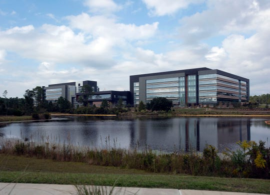 The newest office building on the Navy Federal Credit Union campus is filled with employees Nov. 6.